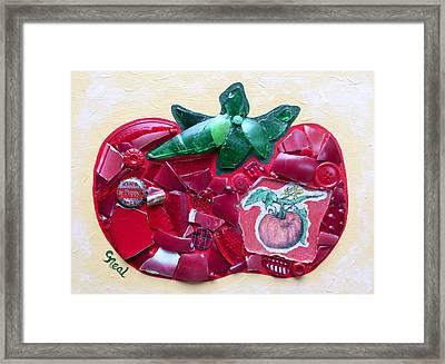 Heirloom Ruby Red Framed Print