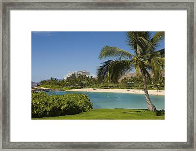 Ihilani Hotel Tropical Lagoon Framed Print by Dana Edmunds - Printscapes