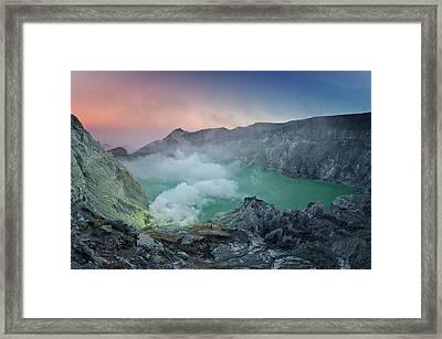 Ijen Crater Framed Print by Alexey Galyzin