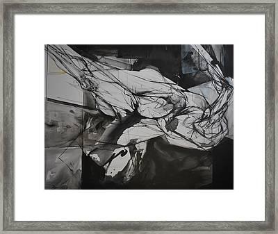 Ikarus Framed Print by Mirjana Lucic