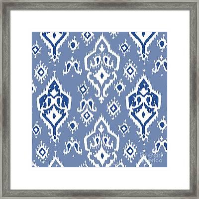 Ikat Wall Art Print Framed Print by Ramneek Narang