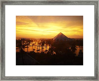 Ike Sunset Framed Print