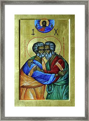Framed Print featuring the photograph Ikon Sts. Peter And Andrew by John Schneider