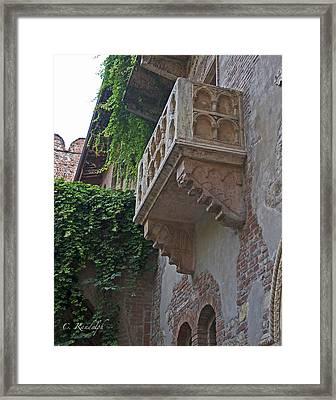 Il Balcone De Giulietta Framed Print by Cheri Randolph
