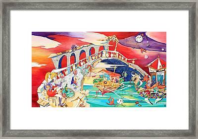Il Battello Dei Sogni - Ponte Di Rialto Framed Print by Arte Venezia