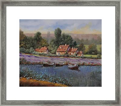 Il Borgo Tra Le Lavande Framed Print