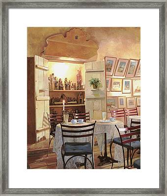 Il Caffe Dell'armadio Framed Print by Guido Borelli
