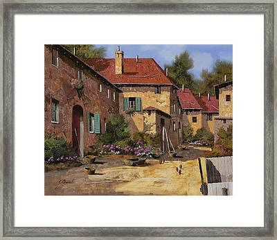 Il Carretto Framed Print by Guido Borelli