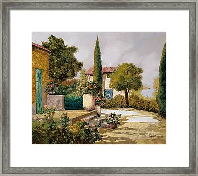 Il Cipresso Framed Print by Guido Borelli