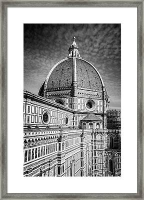Framed Print featuring the photograph Il Duomo Florence Italy Bw by Joan Carroll