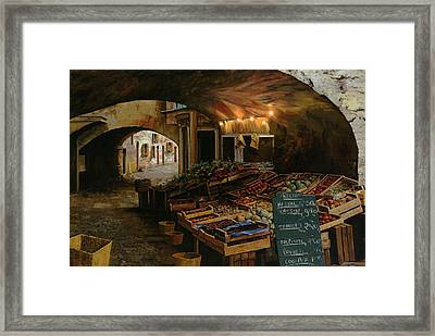 Il Mercato Francese Framed Print by Guido Borelli