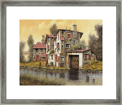 Il Mulino Giallo Framed Print by Guido Borelli