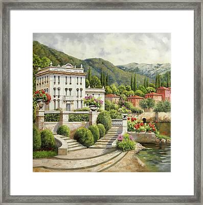 Il Palazzo Sul Lago Framed Print by Guido Borelli