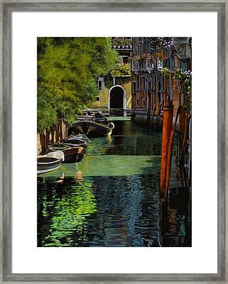 il palo rosso a Venezia Framed Print by Guido Borelli