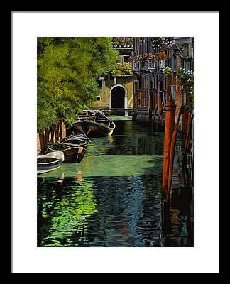 Gondolas Framed Prints