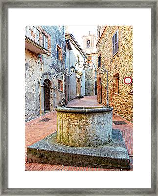 Il Pozzo Paciano 2 Framed Print by Dorothy Berry-Lound