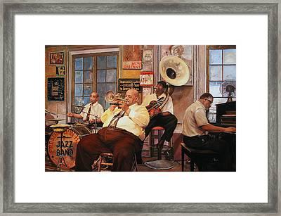 Il Quintetto Framed Print by Guido Borelli