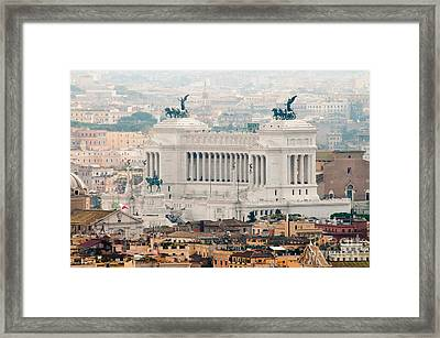 Il Vittoriano Framed Print by Andy Smy