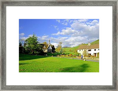 Ilam Primary School And Cottages Framed Print by Rod Johnson