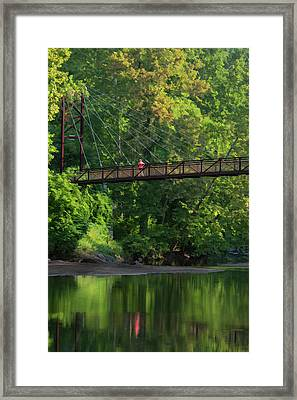 Ilchester-patterson Swinging Bridge Framed Print