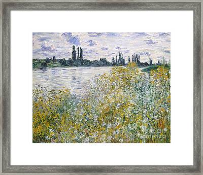 Ile Aux Fleurs Near Vetheuil, 1880 Framed Print by Claude Monet