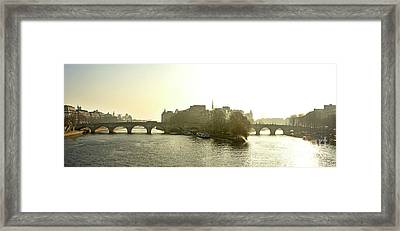 Ile De La Cite In Paris. France Framed Print by Bernard Jaubert