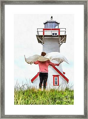 I'll Fly Away Framed Print by Edward Fielding