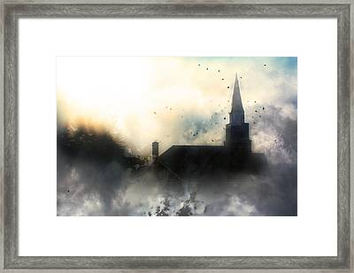 Framed Print featuring the painting I'll Fly Away by Gray  Artus