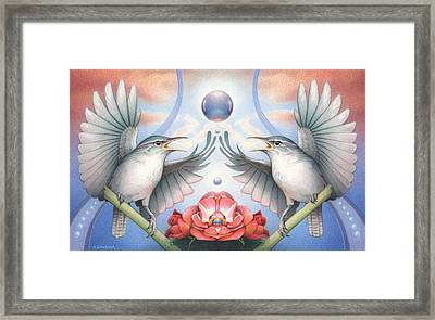 I'll Fly Away... Fly Away Framed Print by Amy S Turner