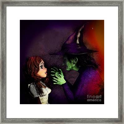 I'll Get You My Pretty Framed Print by Methune Hively