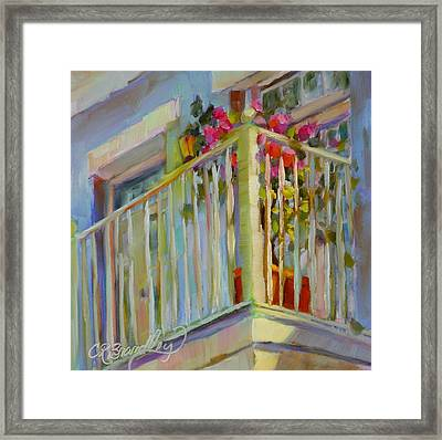 Framed Print featuring the painting I'll Leave The Porch Light On by Chris Brandley
