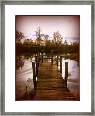 I'll Meet You At The Dock Framed Print by Trina Prenzi