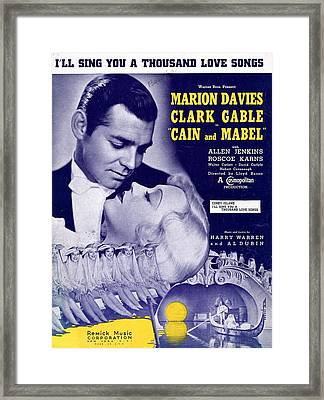 I'll Sing You A Thousand Love Songs Framed Print