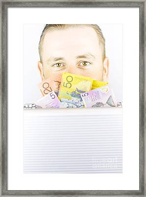 Illegal Money Laundering Framed Print by Jorgo Photography - Wall Art Gallery
