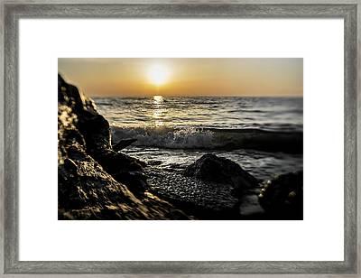 Illinois Beach State Park At Sunrise Framed Print by Sven Brogren