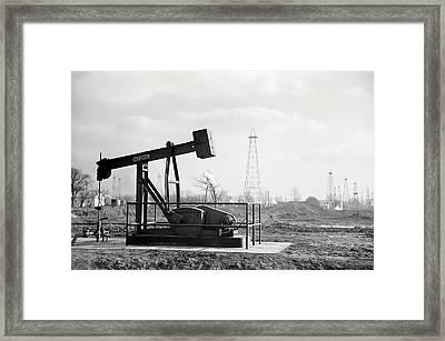 Illinois Oil Field 1940 Framed Print