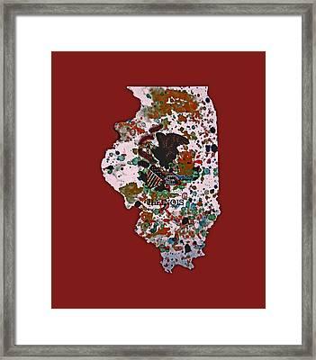 Illinois Paint Splatter Framed Print by Brian Reaves