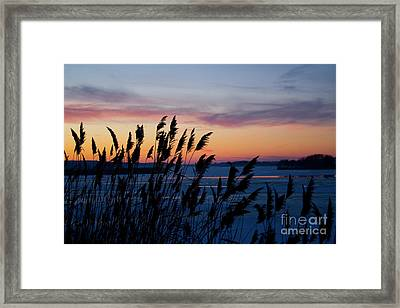 Illinois River Winter Sunset Framed Print