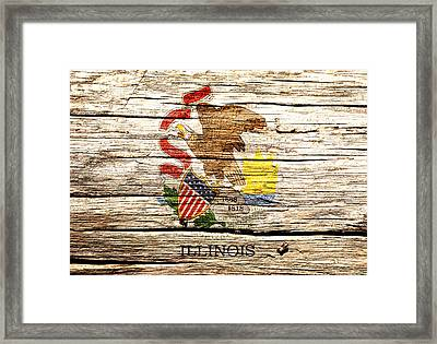 Illinois State Flag 1w Framed Print by Brian Reaves