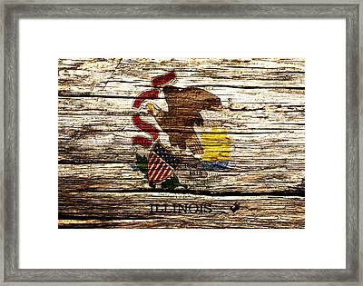 Illinois State Flag 2w  Framed Print by Brian Reaves