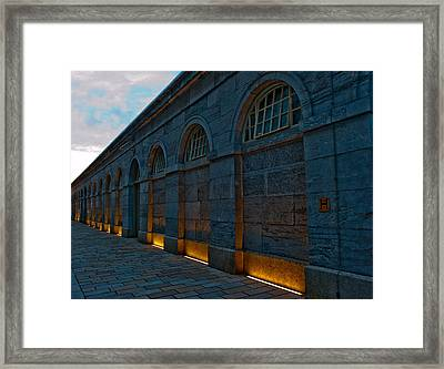 Illuminated Arches Framed Print by Helen Northcott