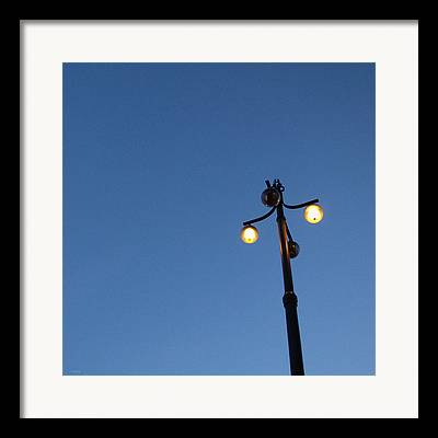 Lamp Post Mixed Media Framed Prints