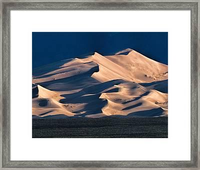 Illuminated Sand Dunes Framed Print