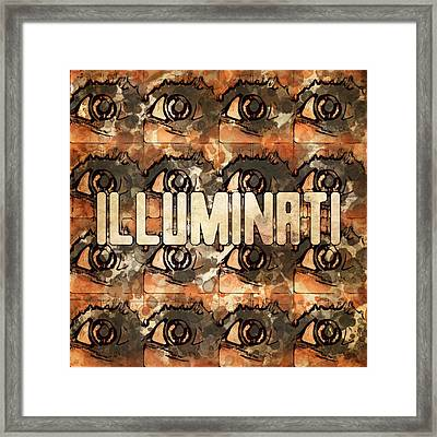 Illuminati Eyes By Mb And Rt Framed Print