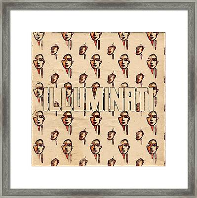 Illuminati Faces By Mb And Rt Framed Print