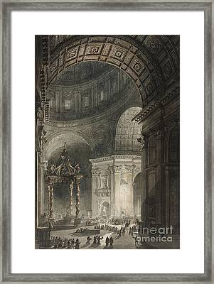 Illumination Of The Cross In St. Peter's On Good Friday, 1787 Framed Print