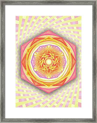 Illuminatus Code -  Spiritual Aperture Framed Print
