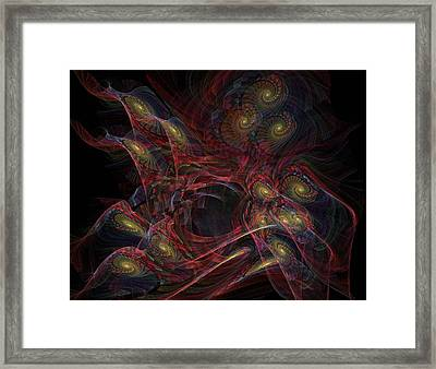 Framed Print featuring the digital art Illusion And Chance - Fractal Art by NirvanaBlues