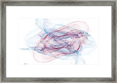 Illusions In Flights Of Mind Framed Print by Abstract Angel Artist Stephen K