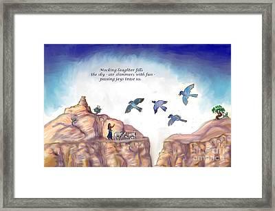 Illustrated Haiku 1 -- Age 17 Framed Print by Dawn Senior-Trask